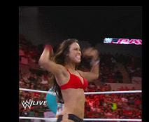 AJ Lee YES! Gif by WWEDudeTrunks07