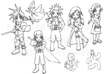 Crisis Core Casts by ChibiMie