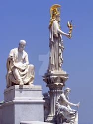 Polybius and Pallas Athena