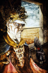 Old Man With Parrot by ArtOfTheMystic
