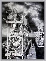 Cthulhu Monuments II by ArtOfTheMystic