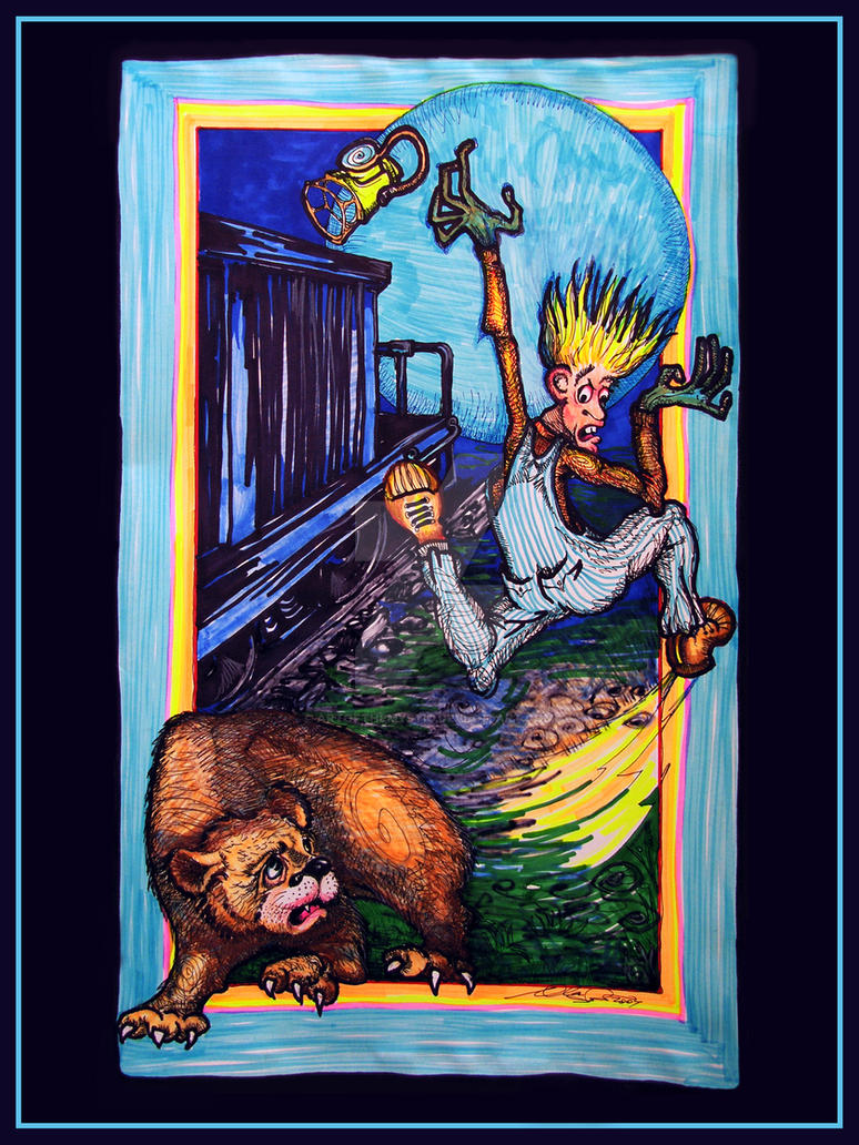Neils Bear Encounter by ArtOfTheMystic