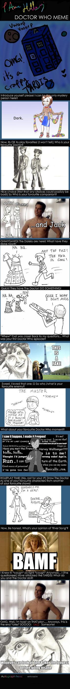 Doctor Who Meme of Memery by astropix