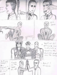 Spider-man Punching Romney by SeradineArrosa