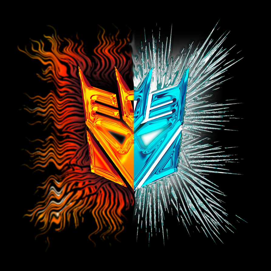 Decepticons fire and ice logo by phendranaguardian on for Fire and ice tattoo shop