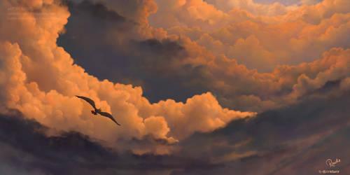 Flight at Sunset by RaidesArt