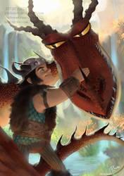 Snotlout and Hookfang by RaidesArt
