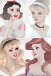 4 Princesses by RaidesArt