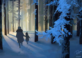 Stroll in the Snow by RaidesArt