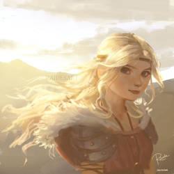 Golden Hair by RaidesArt