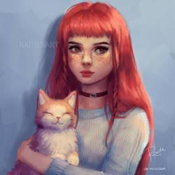 Cat by RaidesArt