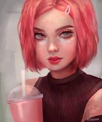 Strawberry Milkshake by RaidesArt