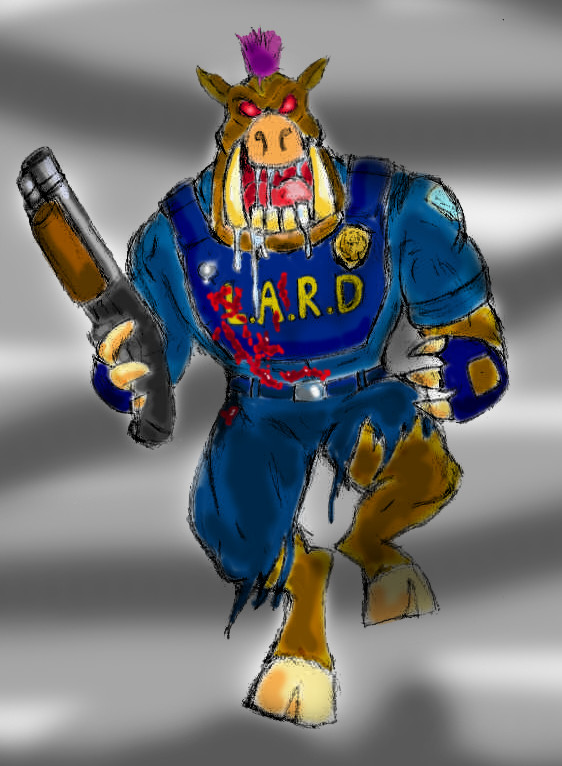 Duke Nukem - Pig Cop 01 by Cybopath