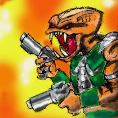 Duke Nukem - Alien Trooper 01 by Cybopath