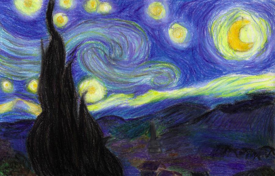 Crayon Van Gogh by Shaleco