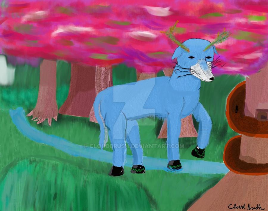 Fantasy Elk by CloudBrush