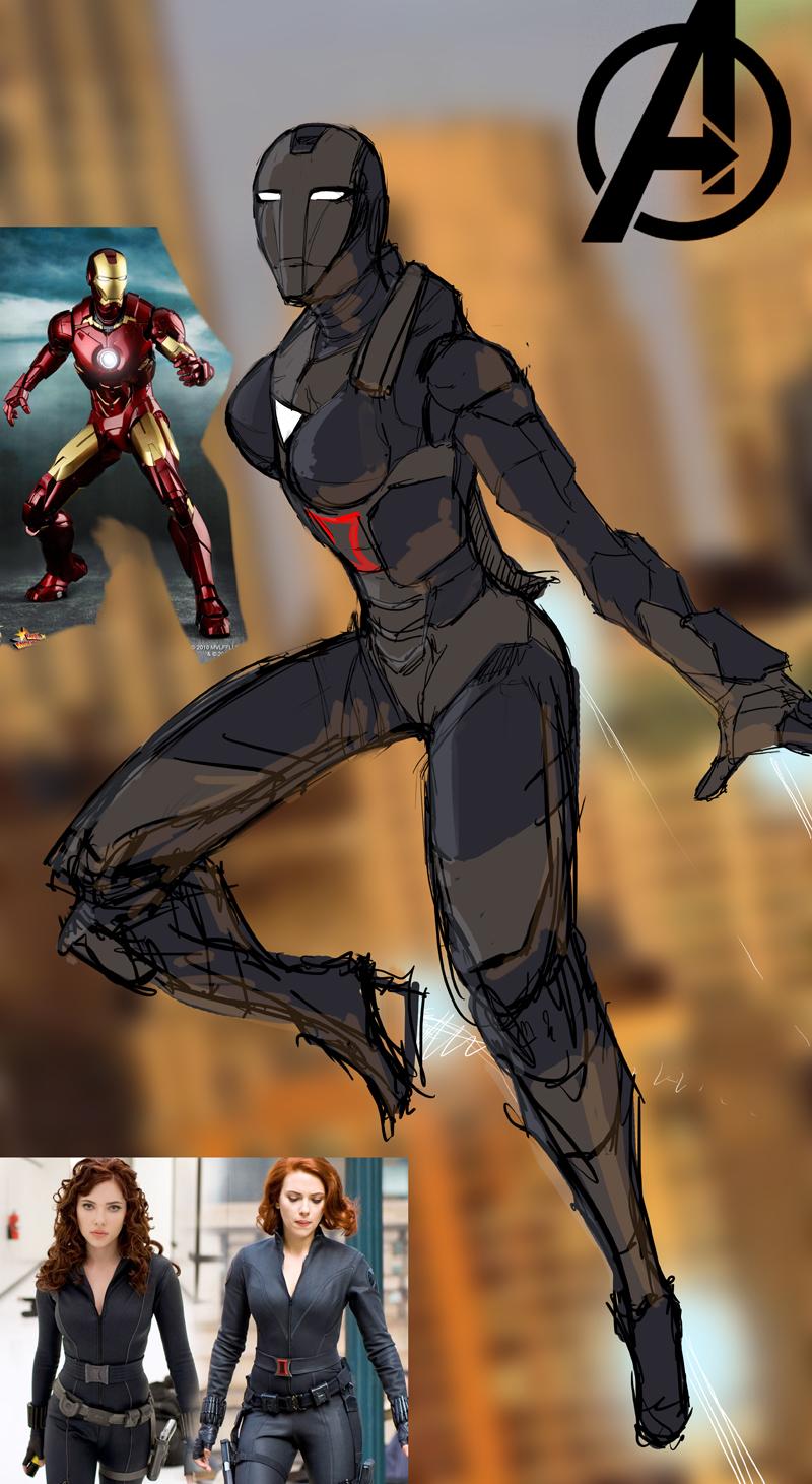 Black widow Strak Suit Progress 1 by JesusAConde
