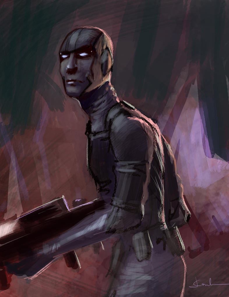 20 minutes painting - soldier by JesusAConde