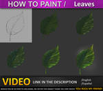 How to paint in photoshop  Leaves TUTORIAL