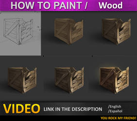 how to paint in photoshop Wood