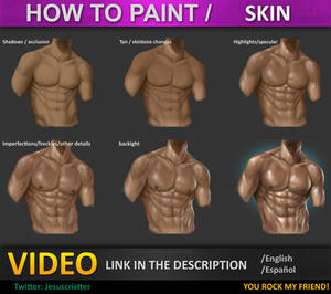 How to paint skin tutorial