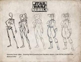 drawing Hera from Star wars rebels by JesusAConde