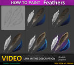 How to paint Feathers tutorial