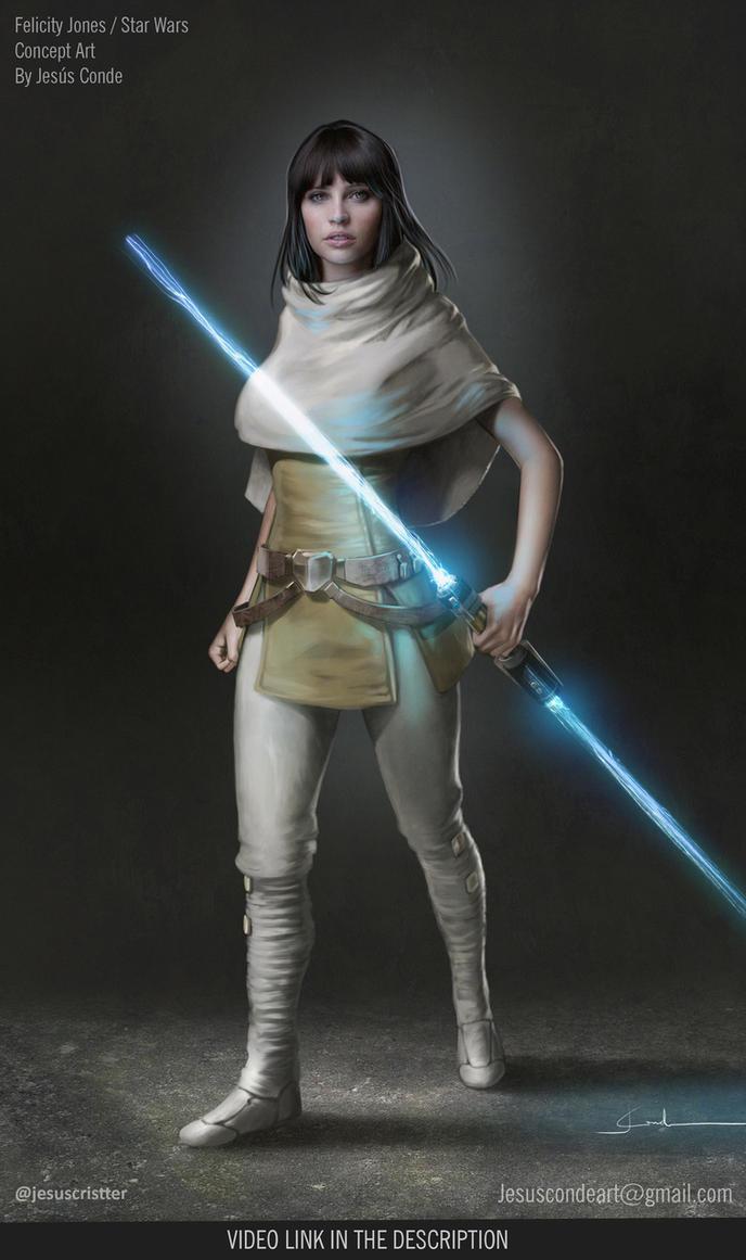 Felicity Jones as a Jedi / Starwars Fan Art by JesusAConde