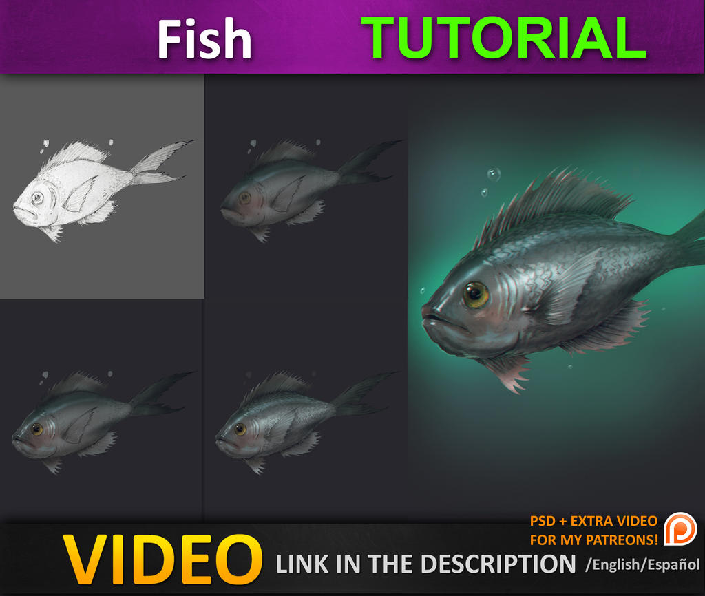 Painting a fish tutorial by jesusaconde on deviantart for How to paint a fish