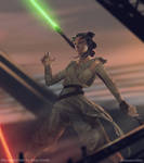 Rey , the force awakens by JesusAConde