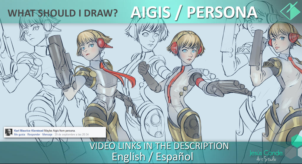what should i draw? Aigis Persona by JesusAConde
