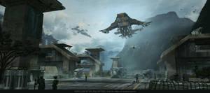Futuristic military base by JesusAConde