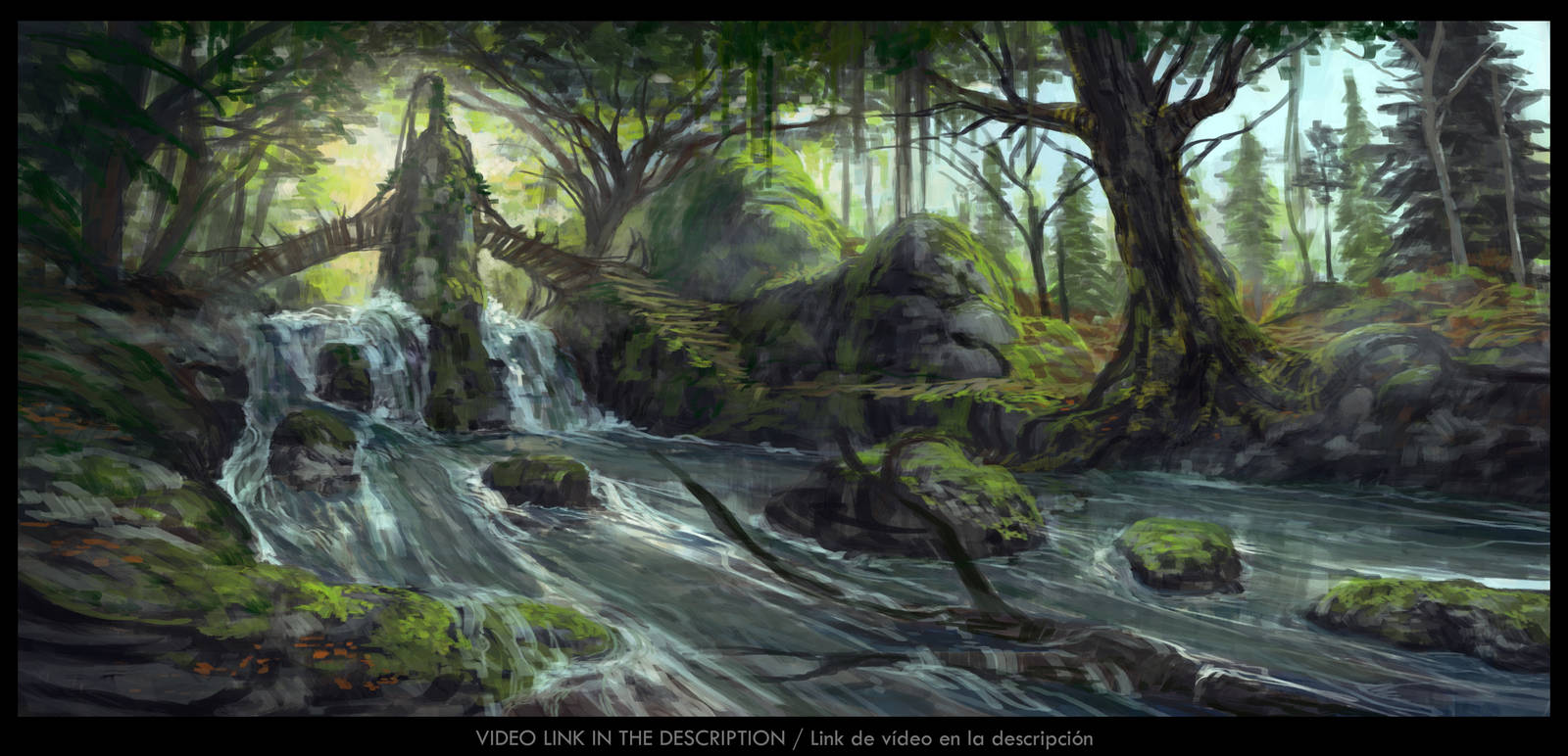 Waterfall bridge by JesusAConde
