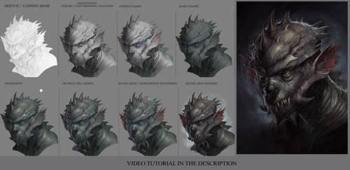 Monster head tutorial by JesusAConde