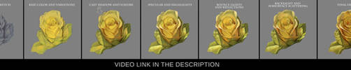 Painting a flower in photoshop step by step by JesusAConde