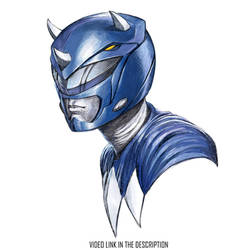 Billy the Mighty Morphin Blue Ranger - Triceratops