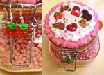 Decoden Sweet Jar and Earrings