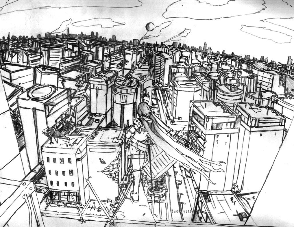Destroyed Cityscape Concept by Cloud-07