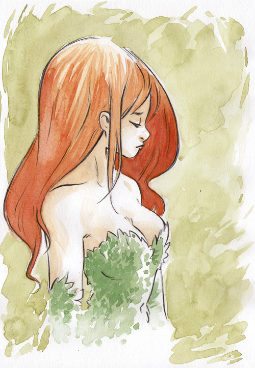 Ivy watercolor collab by sab-m