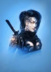 Cyber Ninja Girl by Straban