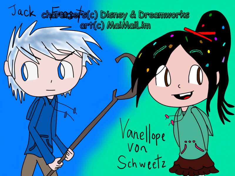 ST: Jack Frost and Vanellope von Schweetz finished by MaiMaiLim