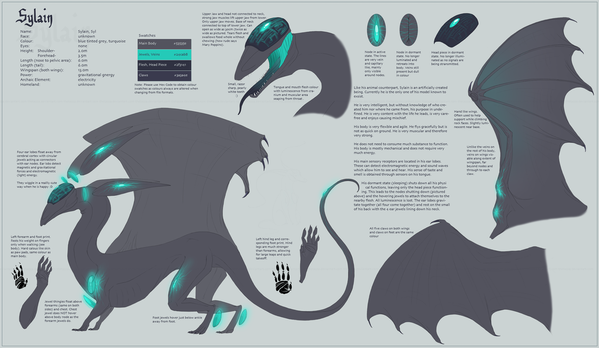 Sylain Dragon Reference by TheTazza on DeviantArt