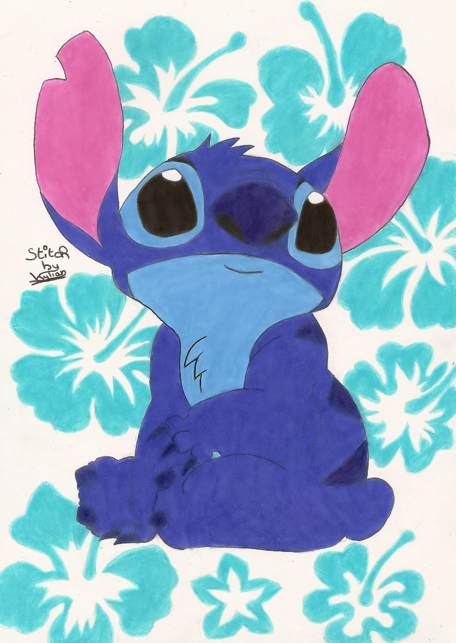 stitch Hibiscus by sonic-stars