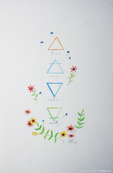 The Four Elements by artbyellie