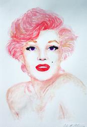 Marilyn in pink by artbyellie