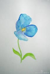 Something blue by artbyellie