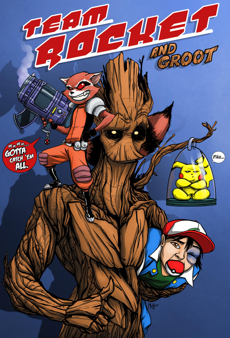 Team Rocket...and Groot by MattFranklin