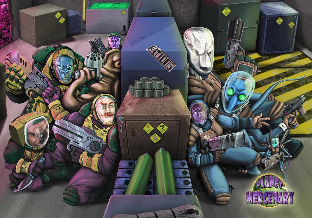 Planet Mercenary Splash by MattFranklin
