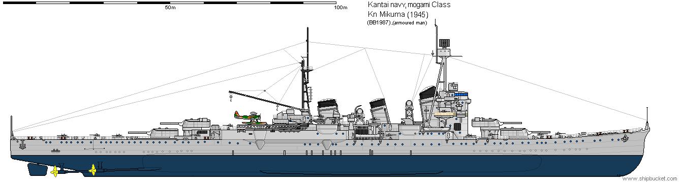 Mogami class heavy cruiser (1945) by space-joe