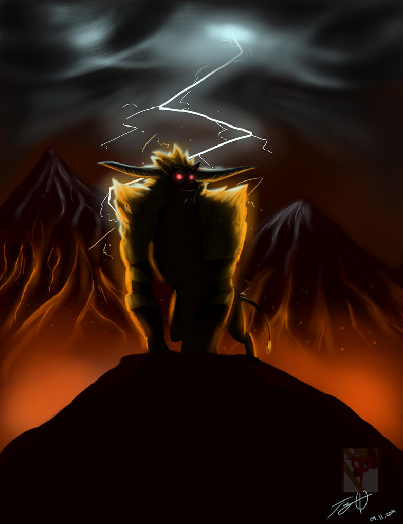 Rajang The Super Saiyan Lion Bull by MonsterSix